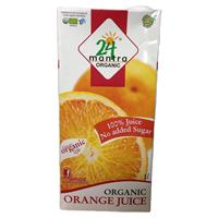 24 Letter Manntra orange juice