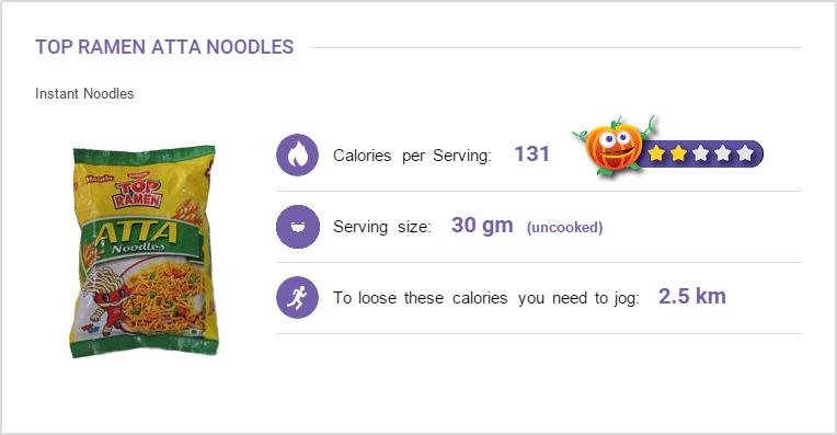 Top Ramen Atta Noodles Nutritional Information And